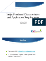 Inkjet Printhead Characteristics Application Requirements