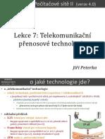 Počítačové sítě II, lekce 7
