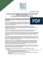 Vote Du Budget CA Roissy Pays de France 14 Avril 2016