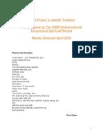 Final jacobs on jewish preayerocument on Silent Prayer Revised