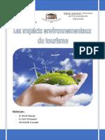 Les Impacts Environnementaux Du Tourisme
