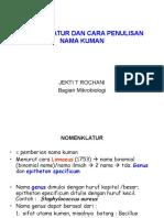 Nomenklatur Dan Cara Penulisan Nama Kuman