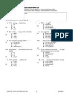 Seti Sample Test