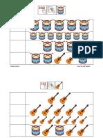 Fichas Matemáticas y Atención Instrumentos