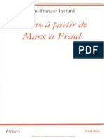 Jean-François Lyotard - Dérive à Partir de Marx Et Freud