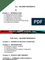 Research Writing Seminar Template