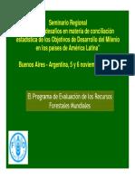 Deforestación Mundial. FAO