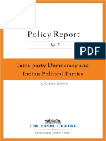 Intra Party Democracy and India's Political Parties