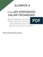 Proses Komunikasi Dalam Organisasi