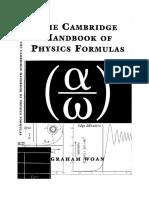 CCambridge Handbook of Physics Formulas