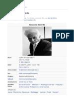 Bibliography - Jacques Derrida