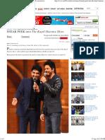 SNEAK PEEK Into the Kapil Sharma Show - Rediff