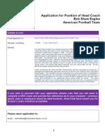 Application Form Hc Bob Shaw Eagles