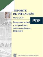 Reporte de Inflacion Marzo 2010