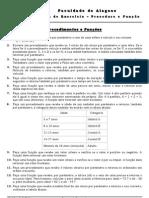 Programação Estruturada 01.052010.1 - I Lista de exercício (Procedimento e Função)