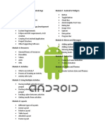 5897 Android Training Modules for 5 Days Workshop