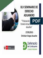 Tributacion Aduanera - Estado Actual en El Perú y Desafíos