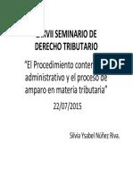 El Proceso Contencioso Administrativo y El Proceso de Amparo en Materia Tributaria