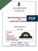 Maintenance Handbook on Lightening Arrester