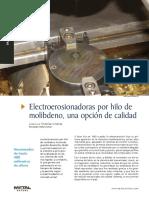 Electroerosion Por Hilo de Molibdeno