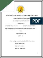 Judicial Activism and Environment