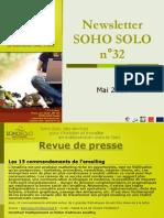 Newsletter Soho Solo n°32 Mai-2010