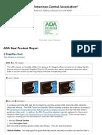 ADA Seal Product Report