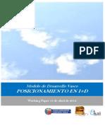 Modelo de Desarrollo Vasco. POSICIONAMIENTO EN I+D