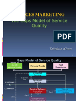 The Gaps Model of Service Quality