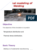 Thermal Modeling Of  weld cladding