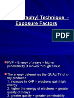 Radiography Technique - Exposure Factors (5)