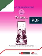 """Unidad de Aprendizaje """"Yo Soy"""" - 3 años"""