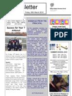 Newsletter 5 _ 26 March 2010