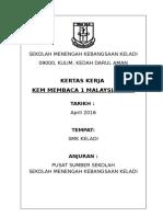 Kertas kerja Kem Membaca 1 Malaysia 2016