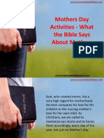 Mothers Day Activities - What the Bible Says About Mothers
