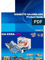 Gigabyte GA-X58A-UD9 Motherboard Product Guide
