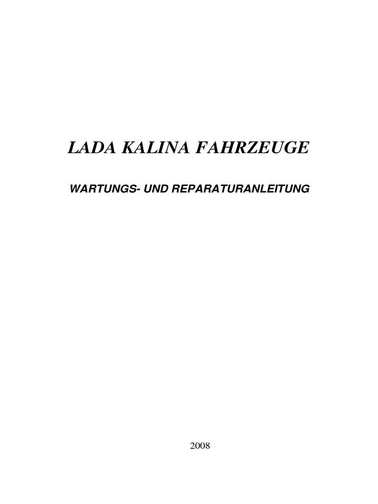 Lada Kalina Reparaturanleitung