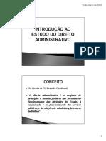 Slides Noções Gerais de Direito Administrativo