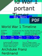 world war 1 timeline  recovered