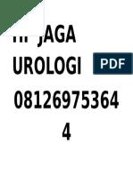 Hp Jaga Urologi
