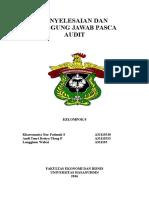 Penyelesaian Dan Tanggung Jawab Pasca Audit