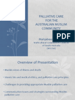 Palliative Care for the Australian Muslim Community