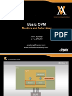 Module Basic Ovm Session8 Monitors and Subscribers Jaynsley