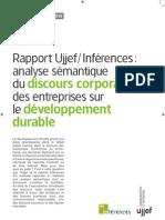 Etude UJJEF_Discours Corporate des entreprises sur le développement durable