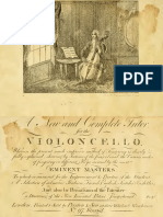 Tutor for the Violoncello