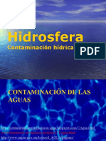 HIDROSFERA CONTAMINACION