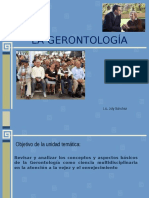 La Gerontologia