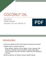 coconut oil presentation