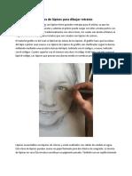 Tipos de Lápices Para Dibujar Retratos