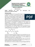 Practica 2 Zul de Metileno en ESP UV-VIS Directa